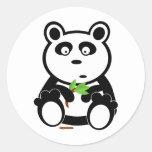 Oso de panda de Bubba Pegatina Redonda