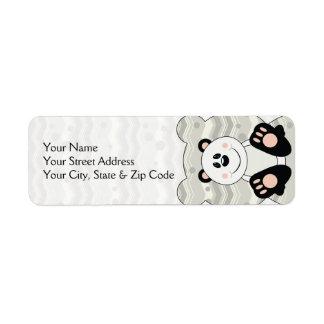 Oso de panda de Cutelyn Etiqueta De Remite