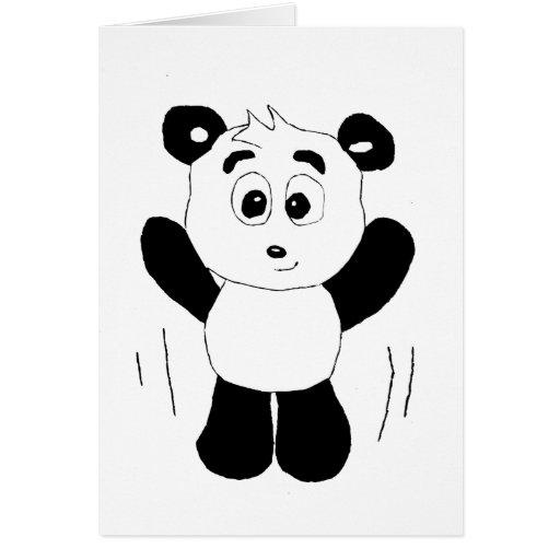Oso de panda de Hip Hop del dibujo animado Felicitaciones