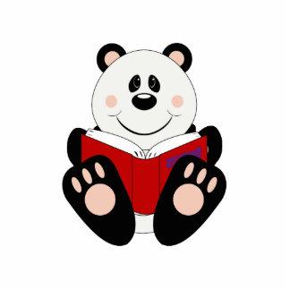Oso de panda de la lectura de Cutelyn Esculturas Fotográficas