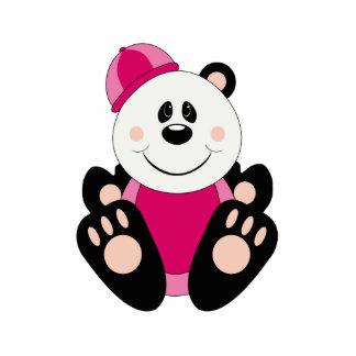 Oso de panda de la nieve de la niña de Cutelyn Esculturas Fotográficas