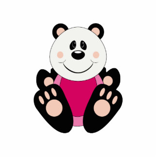 Oso de panda de la niña de Cutelyn Esculturas Fotograficas