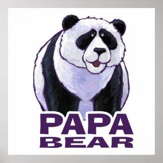 Oso de panda de la papá póster