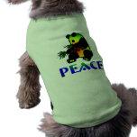 Oso de panda de la paz camiseta de perro