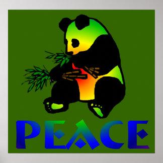 Oso de panda de la paz impresiones