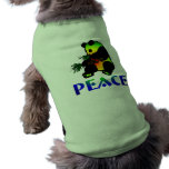 Oso de panda de la paz playera sin mangas para perro
