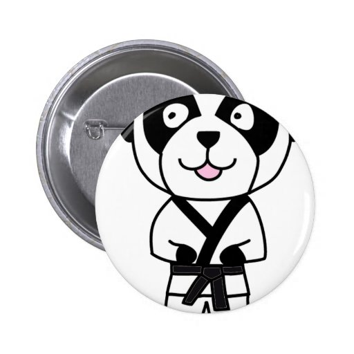 Oso de panda de los artes marciales pin