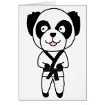 Oso de panda de los artes marciales tarjetas