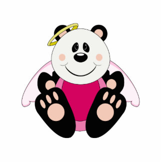 Oso de panda del ángel de la niña de Cutelyn Escultura Fotografica