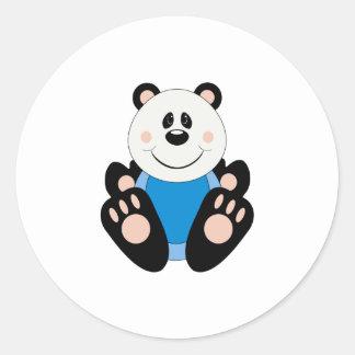 Oso de panda del bebé de Cutelyn Etiqueta Redonda