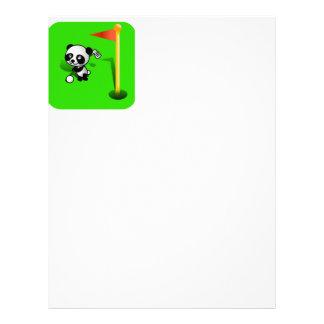 Oso de panda del bebé del dibujo animado Golfing e Membretes Personalizados