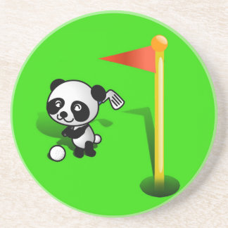 Oso de panda del bebé del dibujo animado Golfing e Posavasos Manualidades