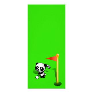 Oso de panda del bebé del dibujo animado Golfing e Tarjetas Publicitarias A Todo Color