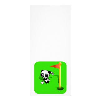 Oso de panda del bebé del dibujo animado Golfing e Tarjeta Publicitaria Personalizada