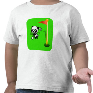 Oso de panda del bebé del dibujo animado Golfing Camiseta