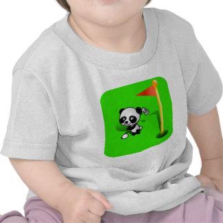 Oso de panda del bebé del dibujo animado Golfing Camisetas