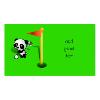Oso de panda del bebé del dibujo animado Golfing Tarjetas De Visita