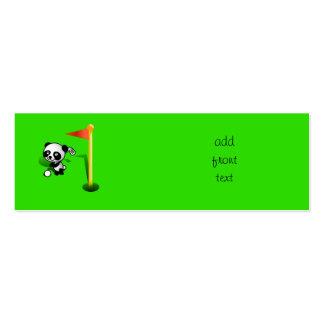 Oso de panda del bebé del dibujo animado Golfing Tarjetas De Visita Mini