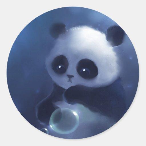 Oso de panda del bebé pegatina