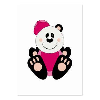 Oso de panda del béisbol de la niña de Cutelyn Tarjetas De Visita Grandes