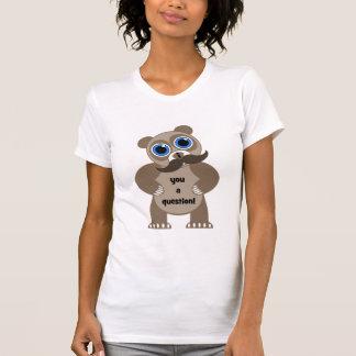 oso de panda del bigote camiseta