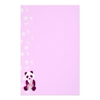 Oso de panda del cáncer de pecho papelería de diseño