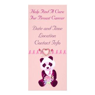 Oso de panda del cáncer de pecho tarjetas publicitarias