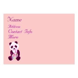 Oso de panda del cáncer de pecho tarjetas de visita grandes