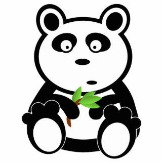 Oso de panda del dibujo animado escultura fotográfica