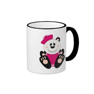Oso de panda del marinero de la niña de Cutelyn Taza De Dos Colores