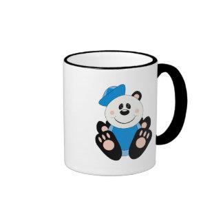 Oso de panda del marinero del bebé de Cutelyn Taza De Dos Colores