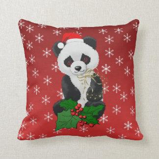 Oso de panda del navidad almohadas