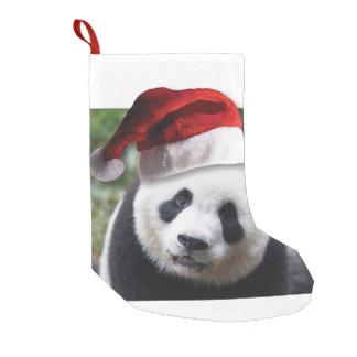 Oso de panda del navidad calcetín navideño pequeño