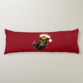 Oso de panda del navidad con el gorra rojo de cojin cama