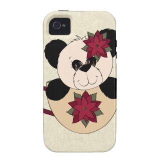 Oso de panda del navidad Case-Mate iPhone 4 funda