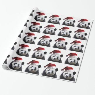 Oso de panda del navidad papel de regalo