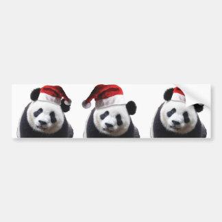 Oso de panda del navidad pegatina para auto