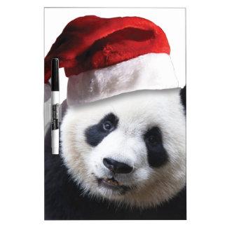Oso de panda del navidad pizarra blanca