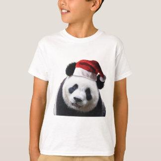 Oso de panda del navidad playera