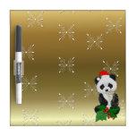 Oso de panda del navidad tableros blancos