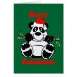 Oso de panda divertido del navidad felicitación
