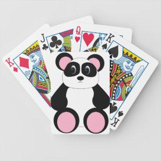 Oso de panda dulce del dibujo animado baraja