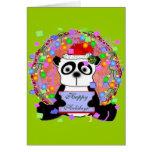 Oso de panda felicitaciones