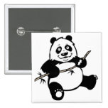 Oso de panda feliz pins