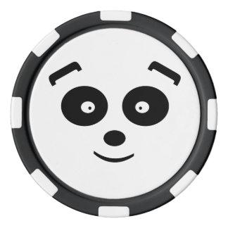 Oso de panda fichas de póquer