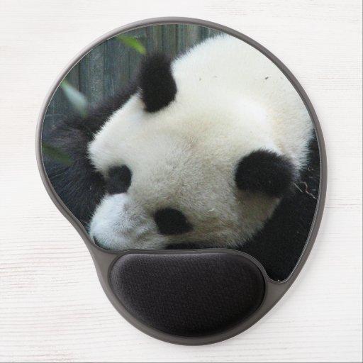 Oso de panda gigante alfombrilla de ratón con gel
