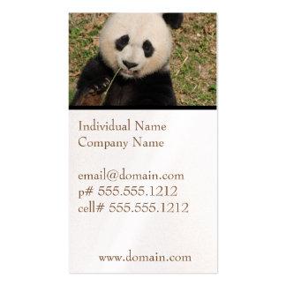 Oso de panda gigante lindo tarjetas de visita