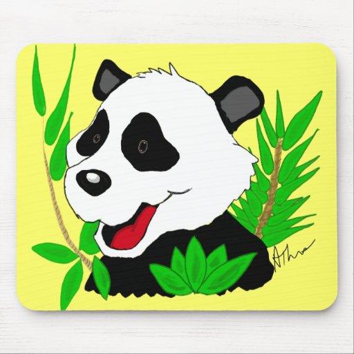 Oso de panda gigante Mousepad Alfombrillas De Ratones