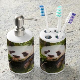 Oso de panda gigante set de baño