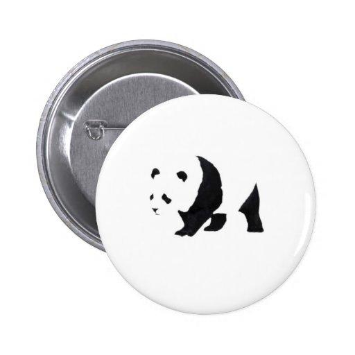 Oso de panda grande pin redondo de 2 pulgadas